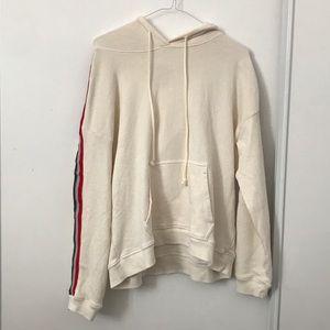 VLVT Cream Stripe Pull Over Sweater